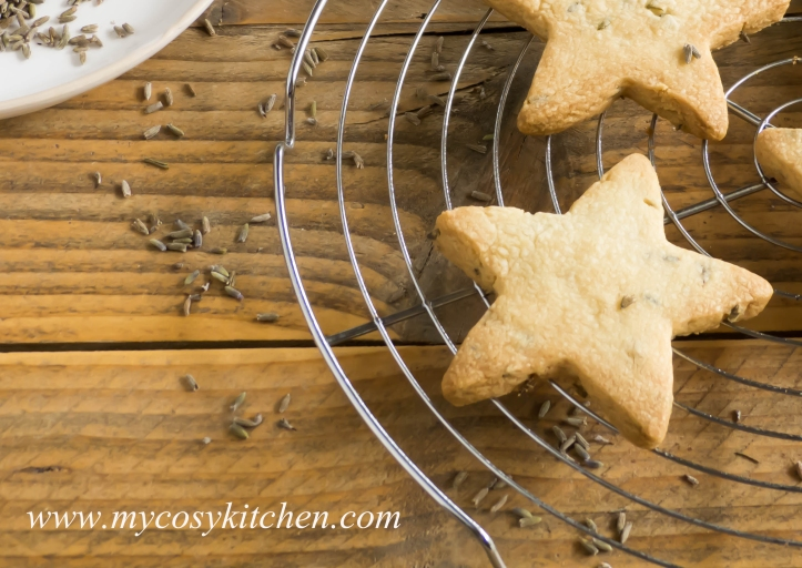 Lavender Shortbread Stars
